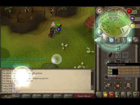 Funky Skill Pk Vid 1  |Defence Pure Dfs Pking|