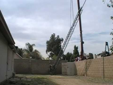 Rohn HDBX48 Tower Removal Using a Crane