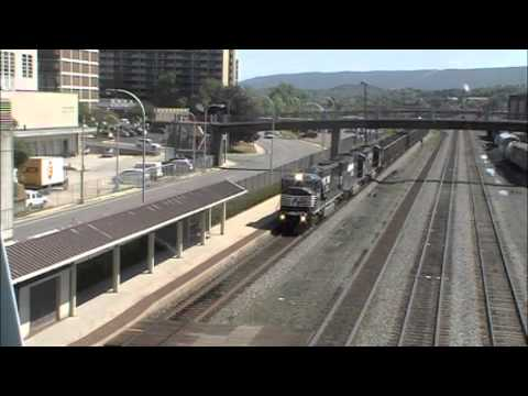 Horseshoe Curve Part 1 Including an Amtrak Heritage Unit, 5 NS SD80MAC's and a Conrail SD60I