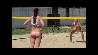 Beach Volleyball Girls Nice Moments Close-Ups