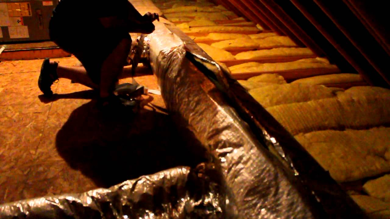 Attic Duct Insulation Repair And Sealing Youtube