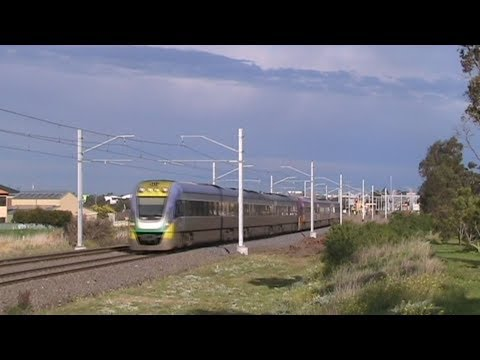 V/Line trains near Sydenham 21/8/12