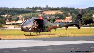 French Army SA342 Gazelle incredible departure at Albi [LBI/LFCI] !!