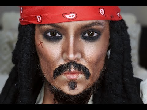 Captain Jack Sparrow Makeup Tutorial & Transformation   Brianna Fox