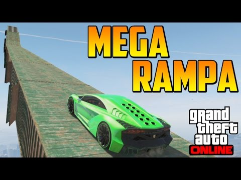 MEGA RAMPA + SALTO IMPOSIBLE - Gameplay GTA 5 Online Funny Moments