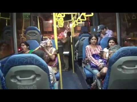Aboard New Super Luxury Navi Mumbai Volvo Bus B7R 8400 - View from Within & Without !!!