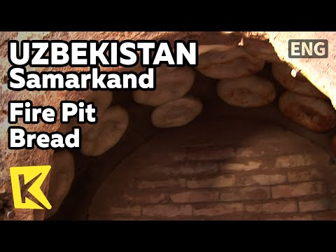 【K】Uzbekistan Travel-Samarkand[우즈베키스탄 여행-사마르칸트]도시 명물, 화덕에 구운 빵/Fire Pit Bread/Factory