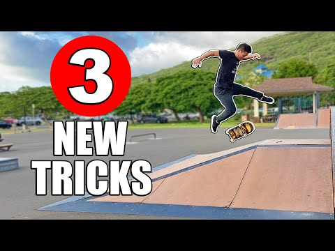 3 NEVER BEEN DONE TRICKS   Bigflip Late Switch Casper Flip & More!