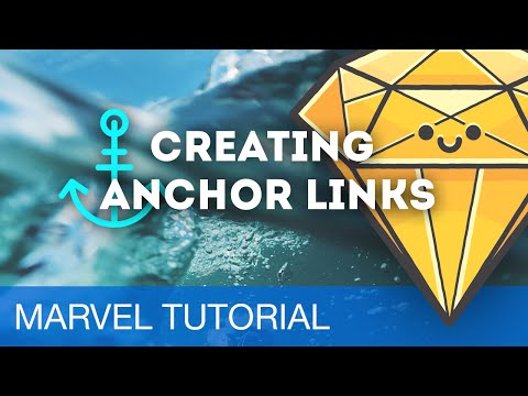 Creating Anchor Links • Prototyping with Marvel (Tutorial)