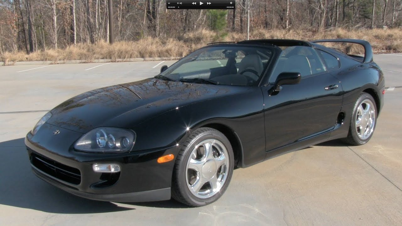 1998 toyota supra turbo 6 spd start up exhaust and in. Black Bedroom Furniture Sets. Home Design Ideas