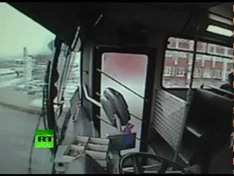 Dramatic CCTV: Moment of bus crash caught on tape in Turkey