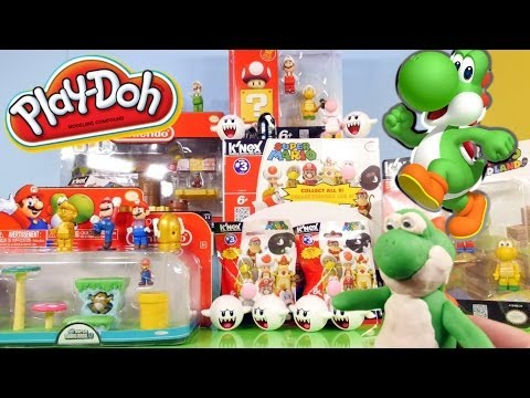 Play Doh Yoshi K'nex Super Mario Full Playsets + Character Surprise Packs By Disney Cars Toy Club