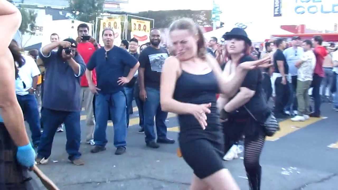 Folsom Street Fair 2013 - Public Spanking - YouTube