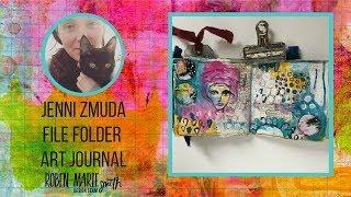 File Folder Art Journal for Roben-Marie Smith Design Team
