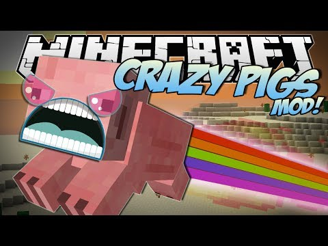 Minecraft   CRAZY PIGS MOD! (Rainbow Pigs, Superpowers, Trail Mix & More!)   Mod Showcase