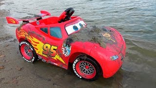Disney Lightning McQueen stuck in sand / Car Wash by Kidscoco Club Little Boy