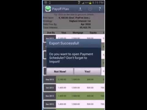 Payment Scheduler screenshot for Android