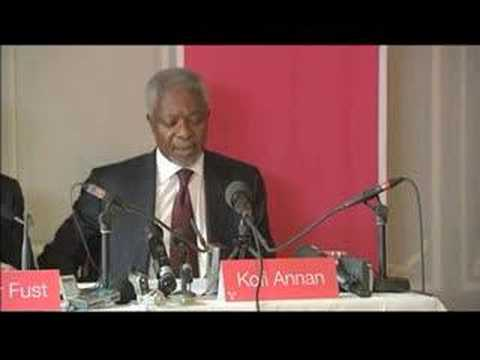 Press Conference, 22 April 2008: Kofi Annan