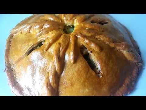 Домашний пирог с курицей и картошкой(нежное, рассыпчатое тесто и сочная начинка!!!)