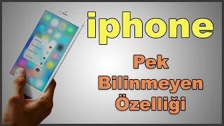 iphone bilinmeyen alt menü özellikleri