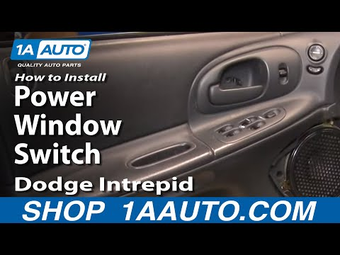 How To Install Repair Replace Master Power Window Switch Dodge Intrepid 98-04 1A