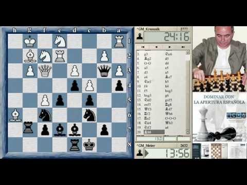 Torneo de Ajedrez Dortmund 2014 (PRIMERA RONDA) Kramnik Meier primera partida Dortmund ajedrez 2014