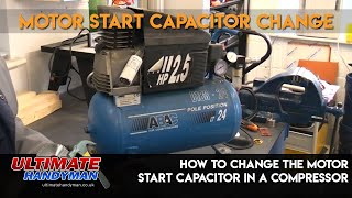 How to change a motor start capacitor