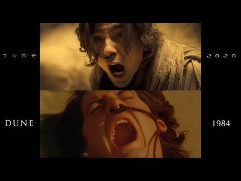 Dune (1984/2021*) side-by-side comparison (trailer #1)