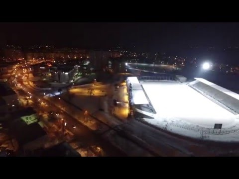 Ночной Новокуйбышевск с высоты птичьего полёта