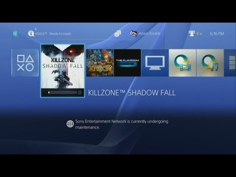Gamerade - PS4 Dashboard UI and Game Play (Knack and Killzone) - Adam Koralik