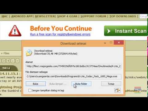 Cara mengunduh K Lite Codec Pack