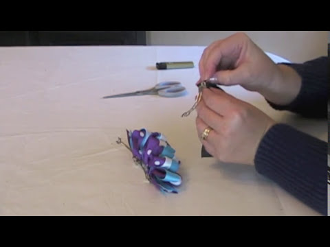 How To Make An Accordian Bow French Hair Clip