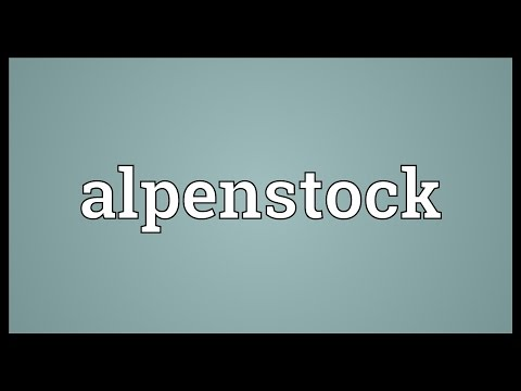 Header of alpenstock