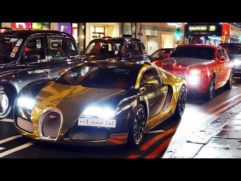 arab gold chrome bugatti veyron grand sport in london red chrome rolls royce phantom youtube. Black Bedroom Furniture Sets. Home Design Ideas