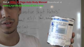 Automotive Paint Mixing Ratios - How To Mix Auto Paint - Mixing Car Paint