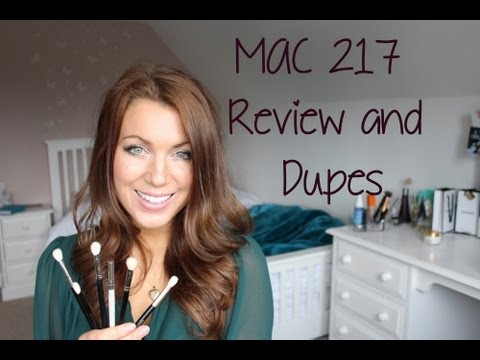 MAC 217 Review   Blending Brush Comparison Dupes   Abi Girl