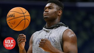 Zion Williamson is expected to be out for multiple weeks | Golic and Wingo