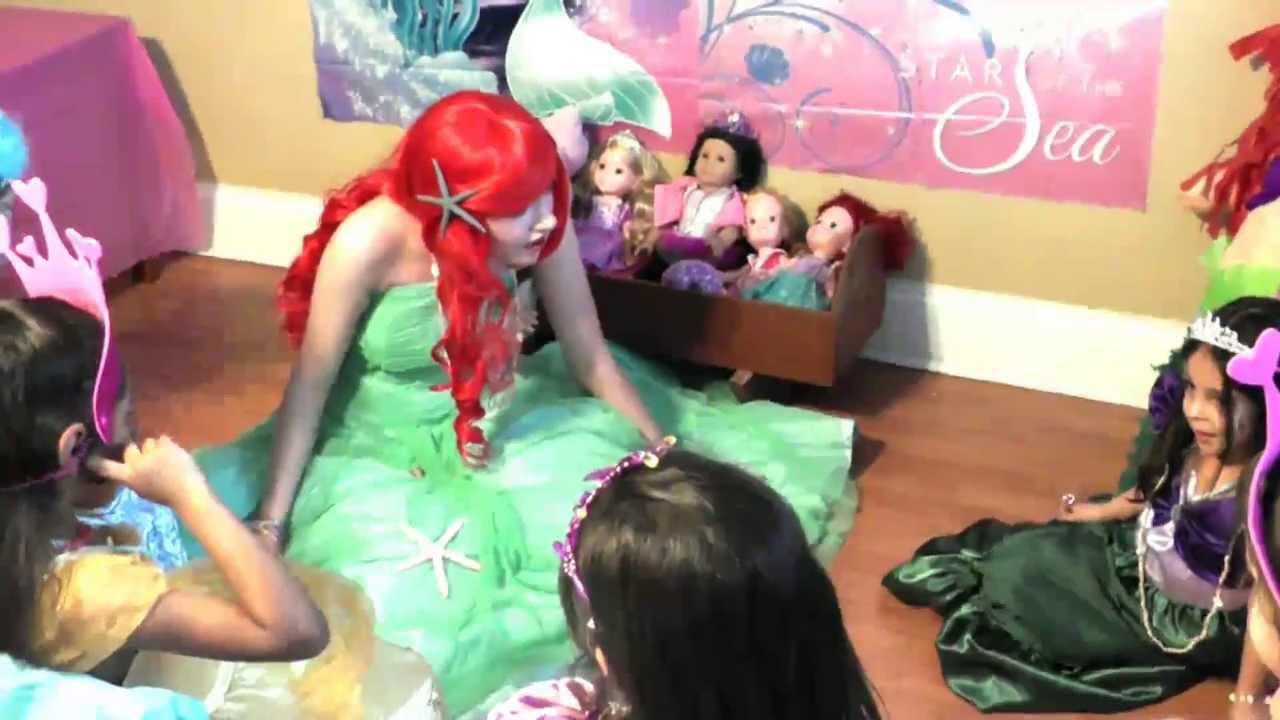 Ariel Sings Disney Princess Songs Birthday Party Youtube