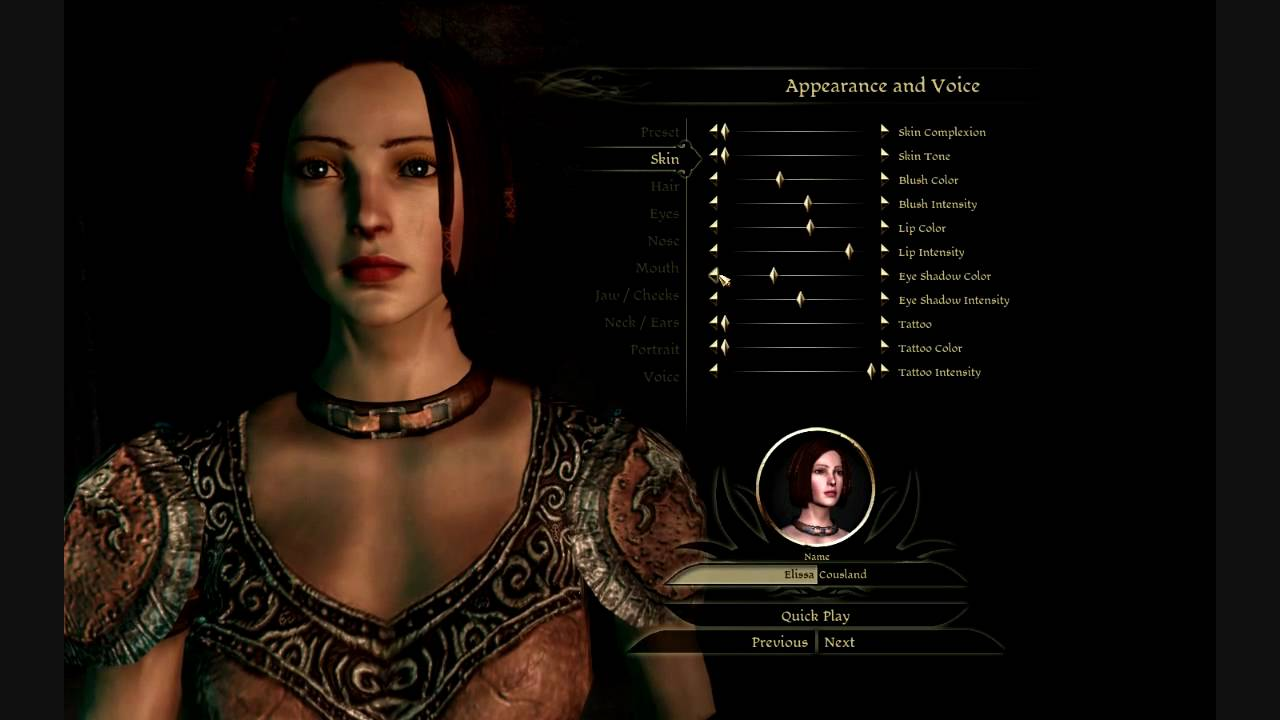 Dragon Age Origins Characters Creation Let's Play Dragon Age Origins