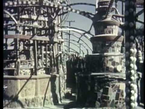 Watts Towers of Simon Rodia (The Towers, 1957) California VISIONARY Architecture Fantasy Environment