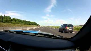 Overtaken at 250 km/h / about 155 mph