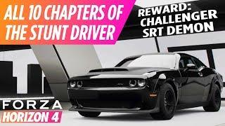 Forza Horizon 4 - The Stunt Driver (All 10 Chapters) & Dodge Challenger SRT Demon