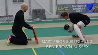 Matt Prior & Ben Brown Wicketkeeping drill