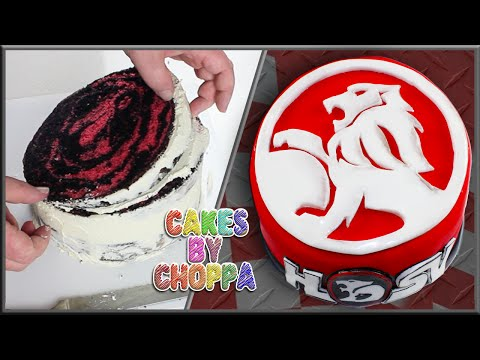 HOLDEN HSV Logo Cake (How To)