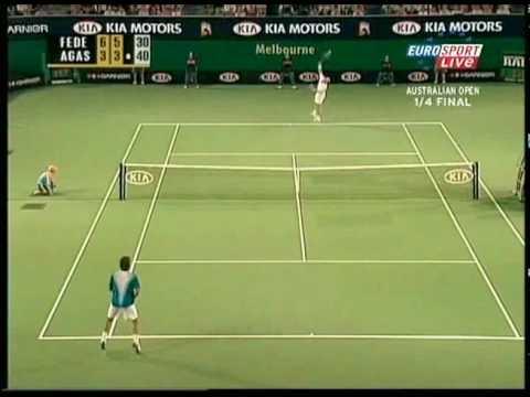 [HL] Roger Federer vs. Andre Agassi 2005 Australian Open [QF]