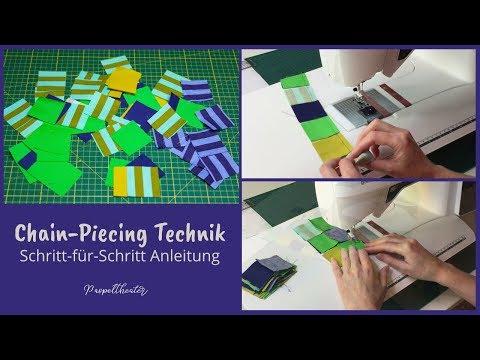 Chain Piecing Technik - Schritt-für-Schritt Anleitung (deutsch)