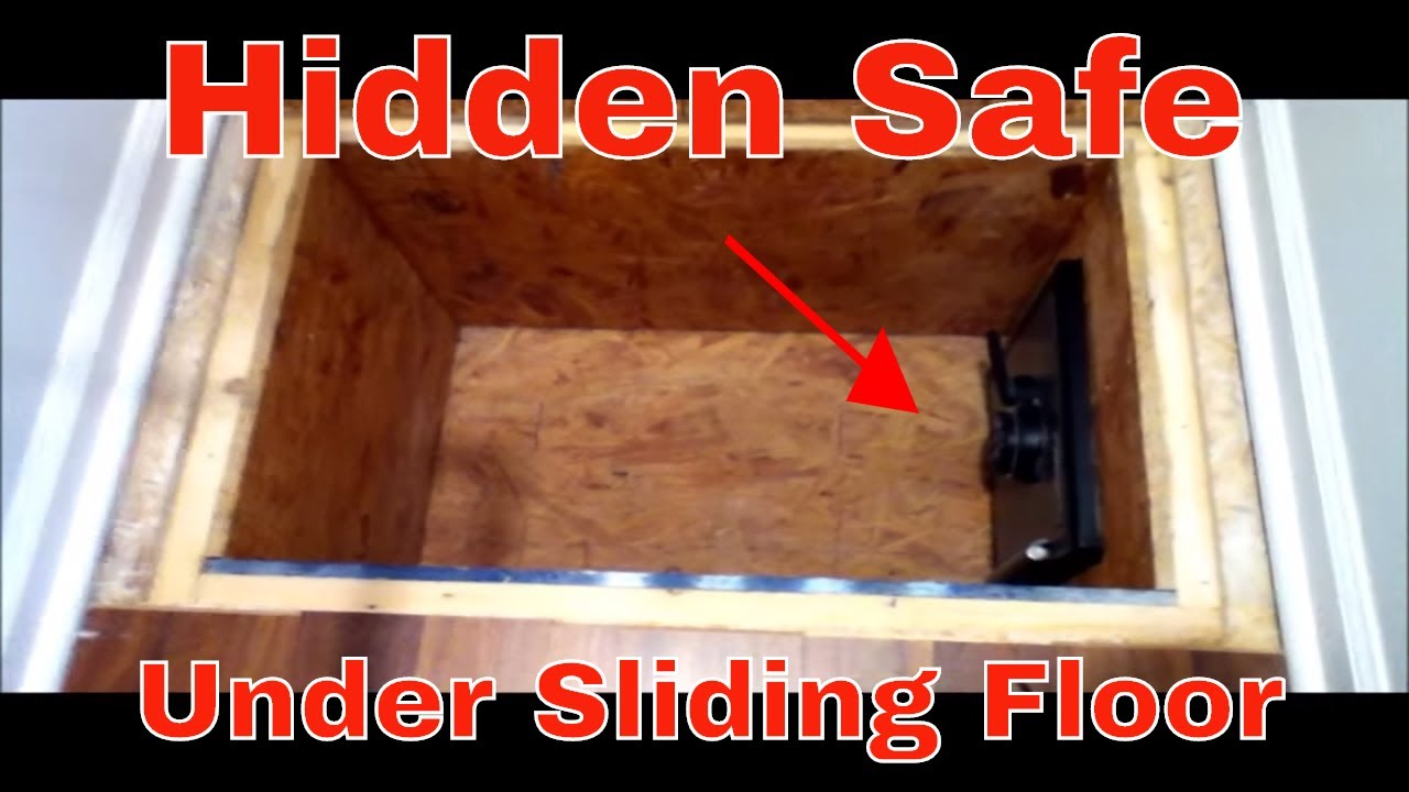 Secret Hidden Safe Under Sliding Floor Youtube