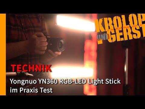 Yongnuo YN360 RGB-LED Light Stick im Praxis Test