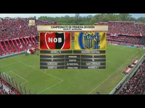 Newell's vs. Rosario Central. Fecha 12. Campeonato de Primera División 2016