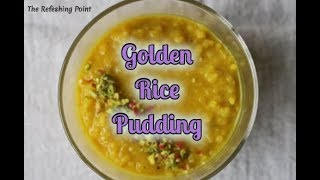 Golden Rice Pudding with Coconut Oil, Turmeric, Ginger and Cinnamon - Anti-Inflammatory Treat